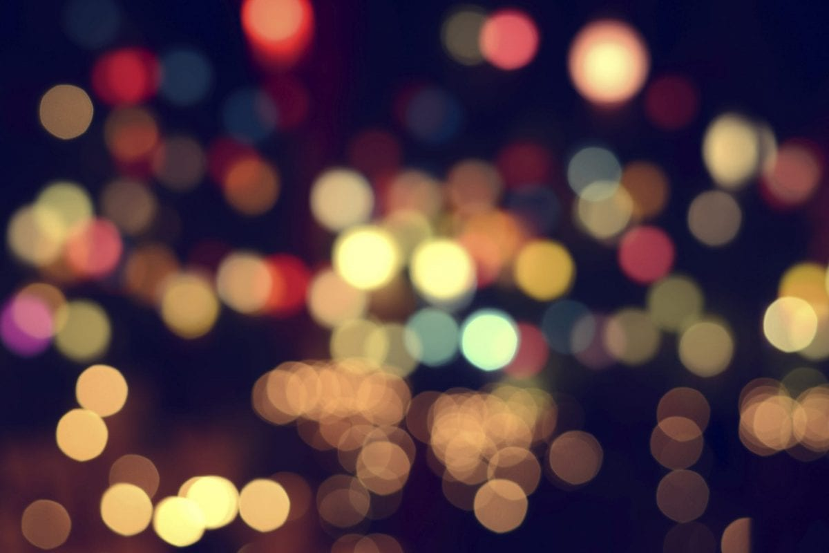 Lights blurred