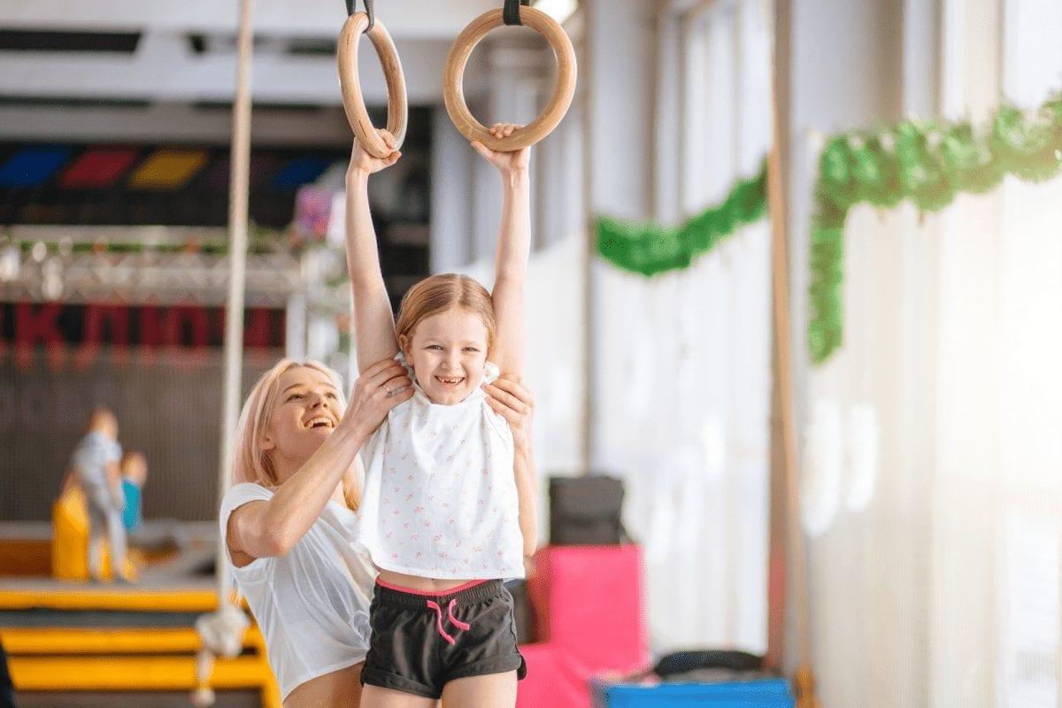 benefits of gymnastics- girl holding loops